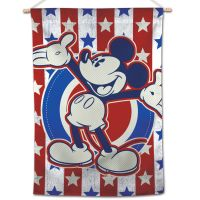 """Mickey Mouse / Disney Mickey Mouse Heritage RWB Vertical Flag 28"""" x 40"""" Mickey Mouse"""
