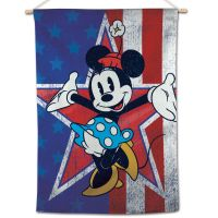 """Minnie Mouse / Disney Minne Mouse Americana Vertical Flag 28"""" x 40"""" Minnie Mouse"""