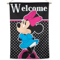 """Minnie Mouse / Disney Minnie Mouse Welcome Vertical Flag 28"""" x 40"""" Minnie Mouse"""