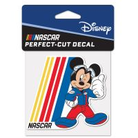 """NASCAR Logo Mickey Mouse Perfect Cut Color Decal 4"""" x 4"""""""