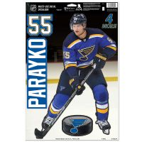 "St. Louis Blues Multi-Use Decal 11"" x 17"" Colton Parayko"