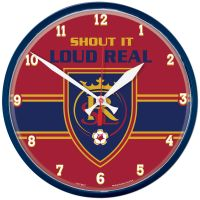 Real Salt Lake SHOUT IT LOUD REAL Round Wall Clock 12.75""