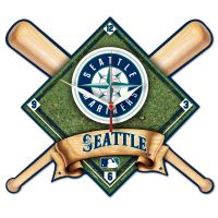 Seattle Mariners High Def. Plaque Clock