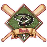 Arizona Diamondbacks High Def. Plaque Clock
