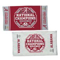 National Football Champions Alabama Crimson Tide COLLEGE FOOTBALL PLAY Full Color Locker Room Towel With Back Imprint