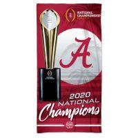 "National Football Champions Alabama Crimson Tide COLLEGE FOOTBALL PLAY Spectra Beach Towel 30""  x 60"""