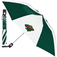 Minnesota Wild Auto Folding Umbrella