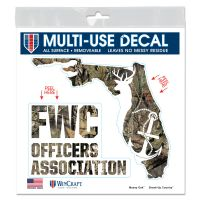 """FWC Officers Association / Mossy Oak All Surface Decal 6"""" x 6"""""""