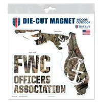 """FWC Officers Association / Mossy Oak Outdoor Magnets 6"""" x 6"""""""