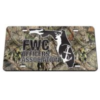 FWC Officers Association / Mossy Oak Specialty Acrylic License Plate