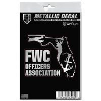 "FWC Officers Association Decal Metallic 3"" x 5"""