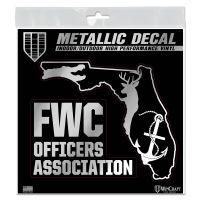 "FWC Officers Association Decal Metallic 6"" x 6"""