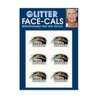 Southern Illinois Edwardsville Cougars Glitter Tattoo 6 Pack